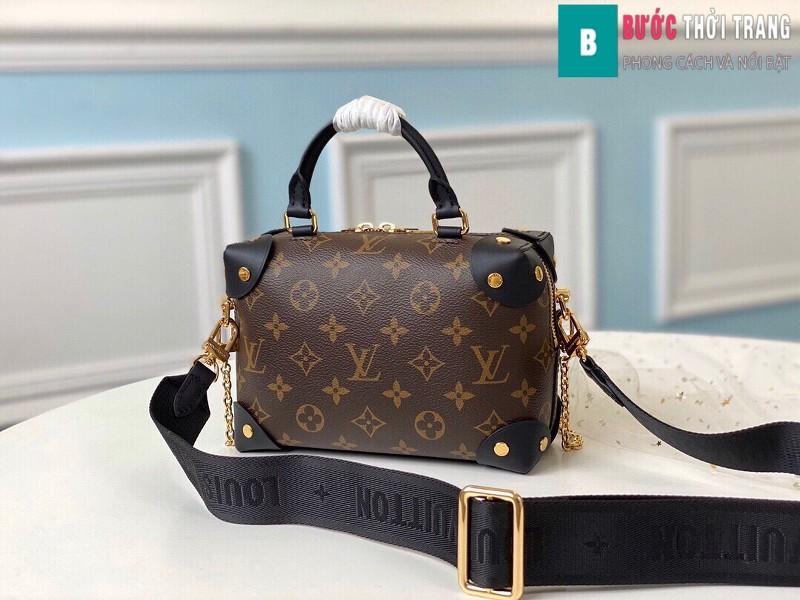 Túi xách LV Louis Vuitton Petite malle souple siêu cấp màu nâu size 20 cm - M45571