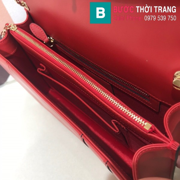 Túi Bvlgari Serventi Forever shoulder bag siêu cấp da bê màu đỏ size 28cm - 35106