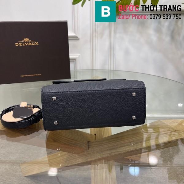 Túi xách Delvaux tempete siêu cấp da bê màu đen size 21.5cm
