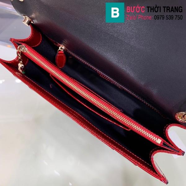 Túi xách Bvlgari Seventi forever siêu cấp da bóng màu đỏ size 27 cm