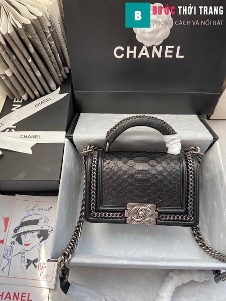 Túi xách Chanel boy siêu cấp python leather màu 7 size 20 cm - A94805