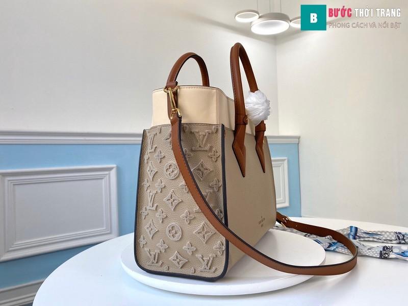 Túi xách LV Louis Vuitton On my side siêu cấp màu galet size 30.5 cm - M53825