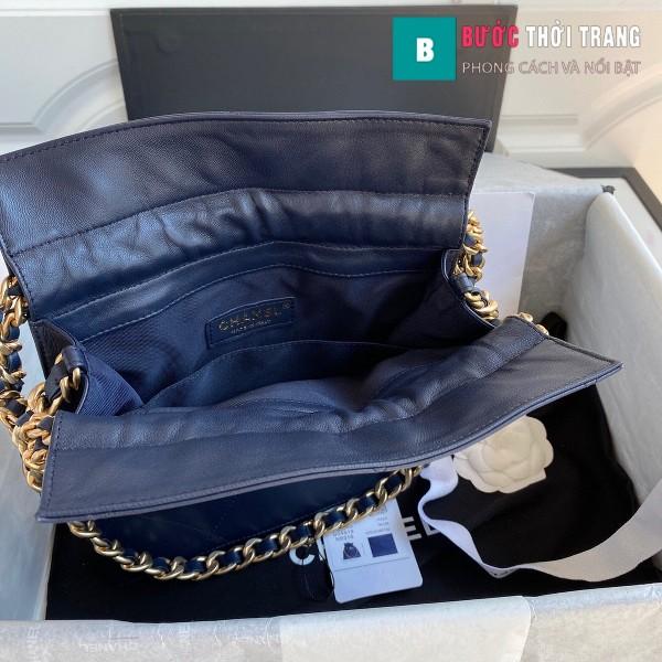 Túi xách Chanel Shopping Bag siêu cấp da cừu size 22cm xanh lam - AS2169