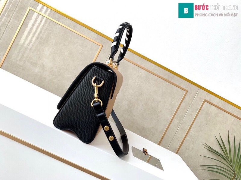 Túi xách Louis Vuitton Crafty Twist MM siêu cấp màu cam đất size 23 cm - M56780