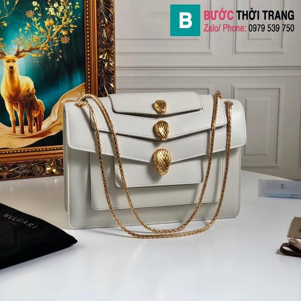 Túi xách Bvlgari Alexander Wang da bê màu trắng size 27.5 cm
