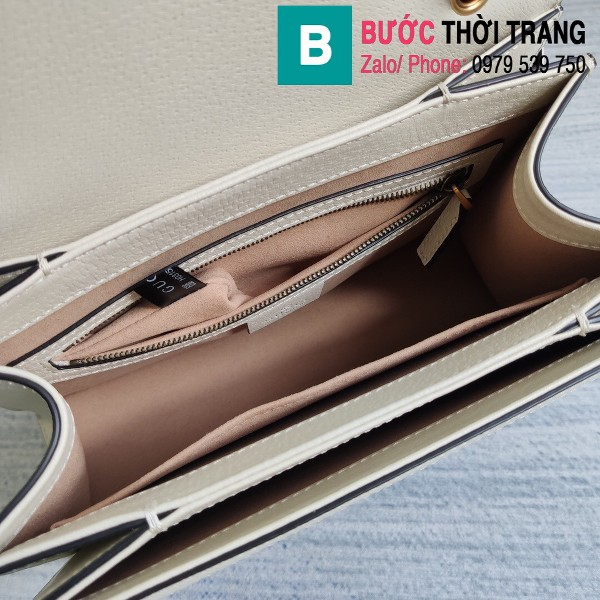 Túi Gucci Queen Mragaret GG Top Handle Satchel siêu cấp viền trắng size 25.5 cm - 476541
