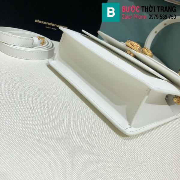 Túi xách Bvlgari Alexander Wang siêu cấp da bê màu trắng size 18.5cm