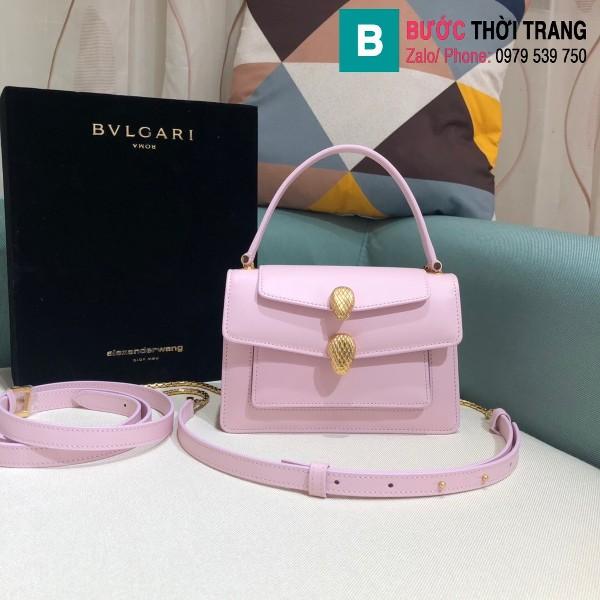 Túi xách Bvlgari Alexander Wang siêu cấp da bê màu hồng size 18.5cm