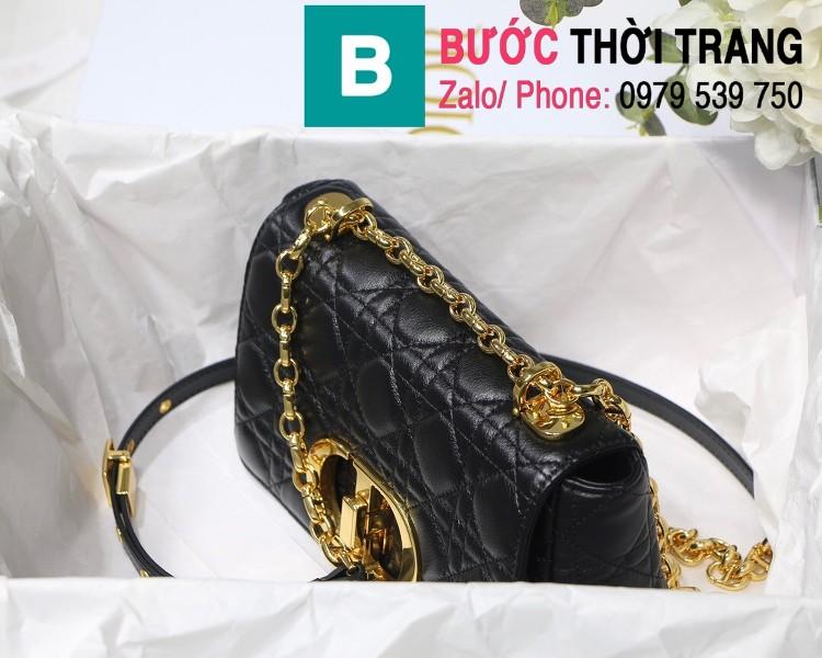 Túi xách Dior Caro siêu cấp da bò mềm size 20cm - M8016