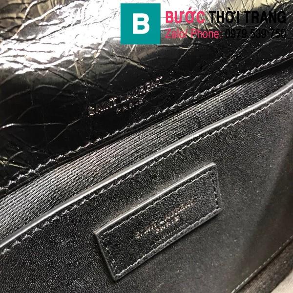 Túi xách YSL Niki siêu cấp da cừu nguyên bản màu đen size 22cm - 533037