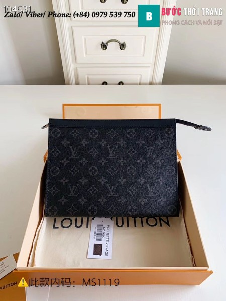 Túi Louis Vuitton Pochette Voyage MM Monogram Eclipse - LV M61692