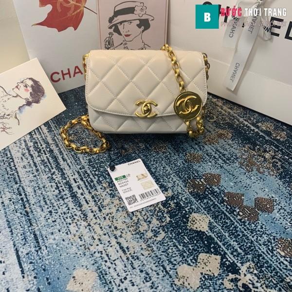 TÚi xách Chanel Small flap Bag siêu cấp màu trắng size 17.5 cm - AS2189