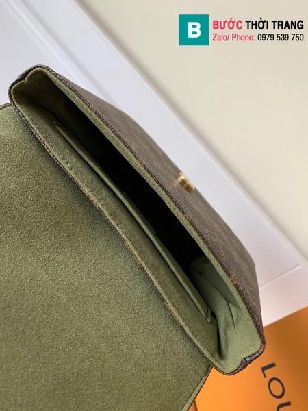 Túi xách Louis Vuitton Locky BB siêu cấp da bò màu rêu size 20 cm - M44797