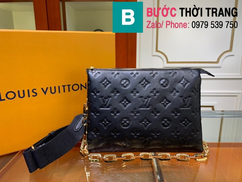 Túi xách LV Louis Vuitton Coussin siêu cấp da bê màu đen size 26cm - M57790