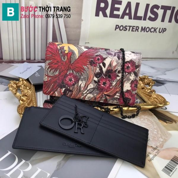 Túi xách Dior Wallet On Chain siêu cấp da cừu màu 1 size 22 cm