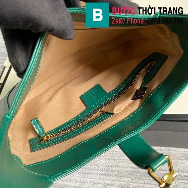 Túi xách Gucci Jackie 1961 small hobo bag siêu cấp màu xanh size 28 cm - 636709