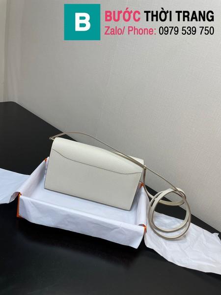 Túi xách Hermes Constance siêu cấp da epsom màu trắng size 20.5cm