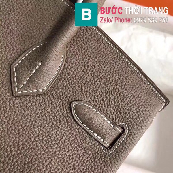 Túi xách Hermes Birkin siêu cấp da Togo màu xám size 30cm