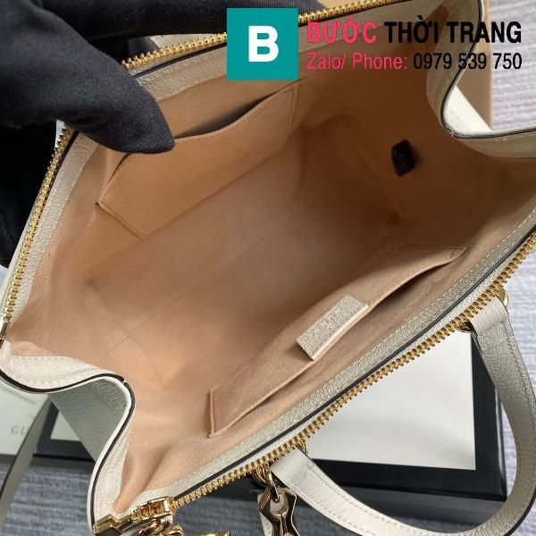 Túi xách Gucci Ophidia small GG tote bag siêu cấp màu trắng size 25 cm - 547551