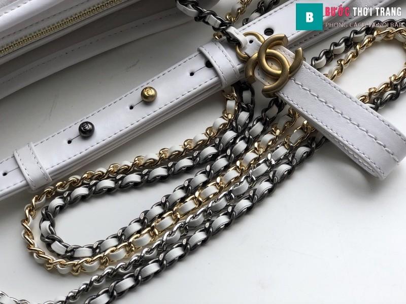 Túi xách Chanel Gabrielle small hobo bag siêu cấp màu trắng size 20cm - 91810