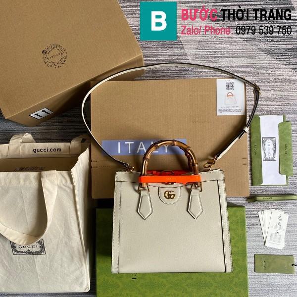 Túi xách Gucci Diana small tote bag siêu cấp da bê màu trắng size 27cm - 660195
