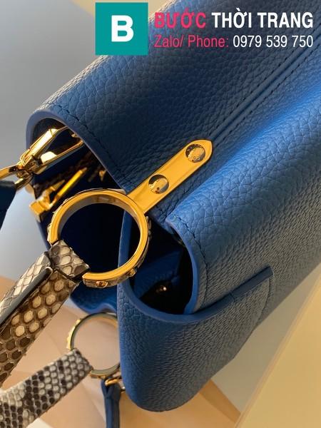 Túi xách LV Louis Vuitton Capucines Bag siêu cấp da bê màu xanh đậm size 31cm - M97980