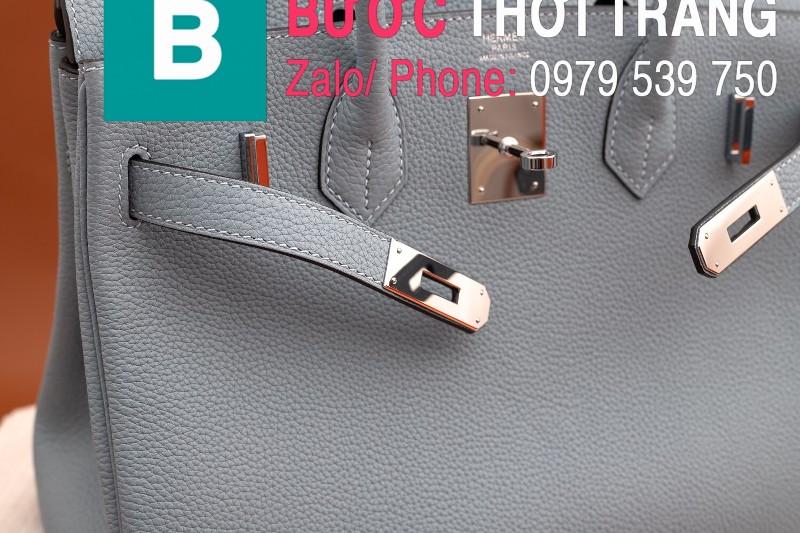 Túi xách Hermes Birkin siêu cấp da bê Togo xanh size 30cm