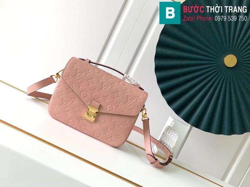 Túi Louis Vuitton Pochette Mettis siêu cấp màu hồng size 25 cm - M41487