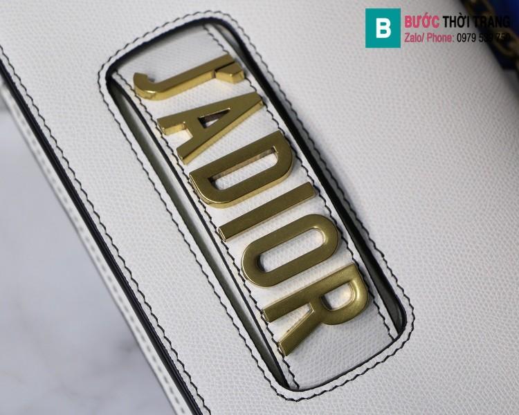 Túi xách Dior J'adior siêu cấp da xước màu trắng size 25cm