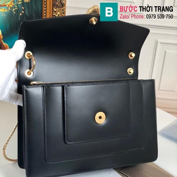 Túi xách Bvlgari Alexander Wang siêu cấp da bê màu đen size 27.5 cm