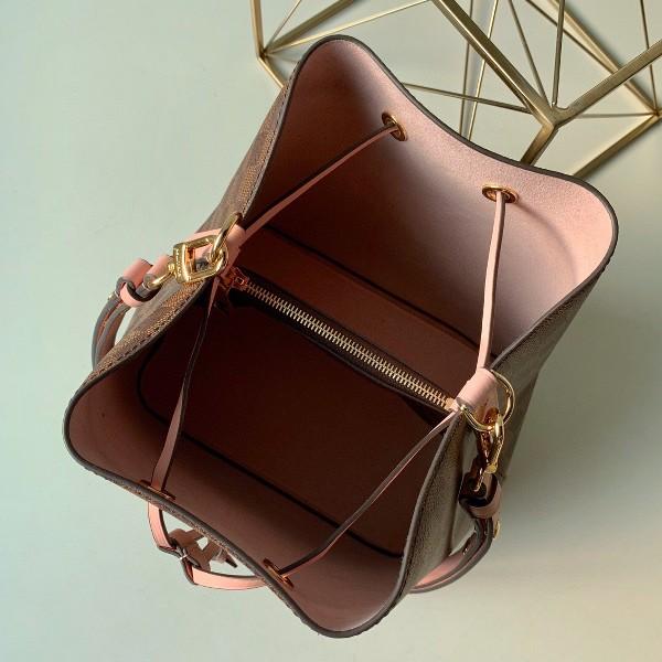 Túi xách LV Louis Vuitton Neo Noe siêu cấp caro màu hồng size 26cm - N40198
