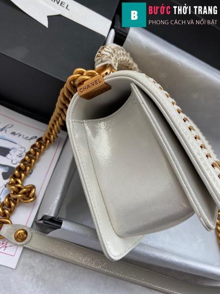 Túi xách Chanel boy siêu cấp da trăn màu 2 size 20 cm - A94805