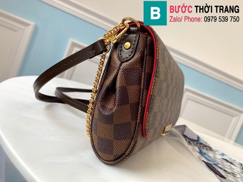 Túi Louis Vuitton Favorite MM siêu cấp màu nâu kẻ cá rô size 28 cm - M41275