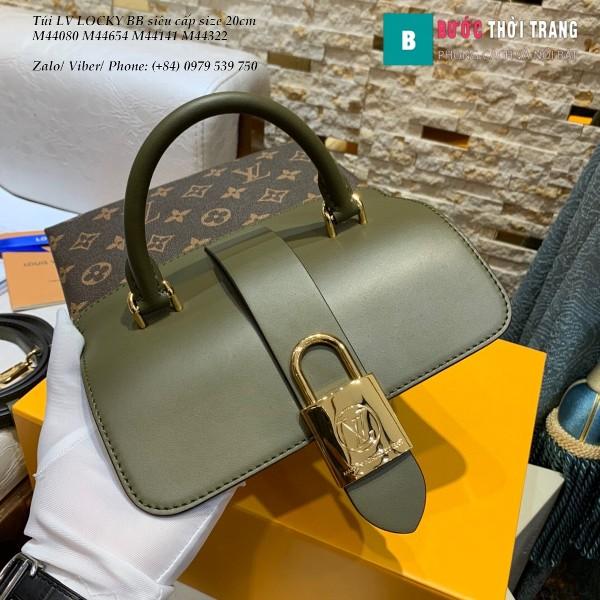 Túi LV LOCKY BB siêu cấp size 20cm màu xanh két đậm - M44322