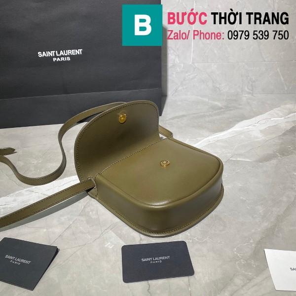 Túi xách YSL Saint Laurernt Kaia Small siêu cấp da bê màu xanh rêu size 18cm - 619740