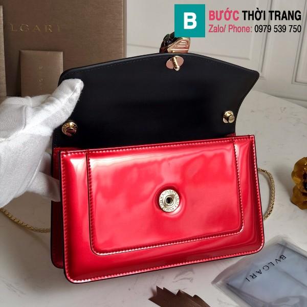 Túi xách Bvlgari Seventi forever siêu cấp da bóng màu đỏ size 22 cm