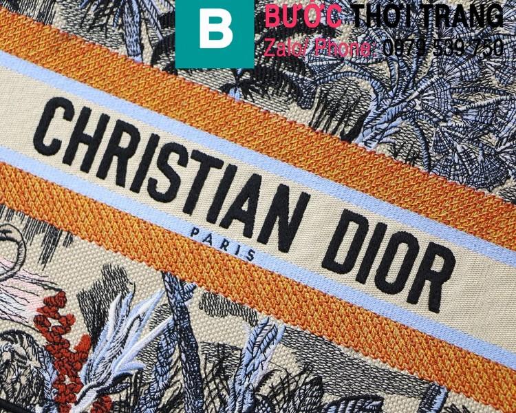 Túi xách Dior Book Tote siêu cấp chất liệu vải casvan màu 8 size 36.5cm - M1286