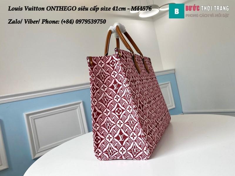 Túi xách Louis Vuitton ONTHEGO 2020 siêu cấp họa tiết đỏ size 41cm - M44576