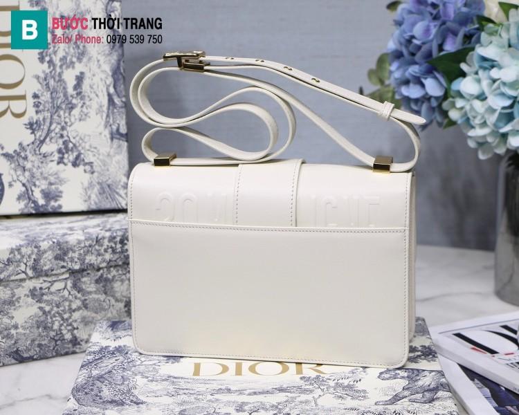 Túi xách Dior 30 Montaigne siêu cấp da bê màu trắng size 24 cm