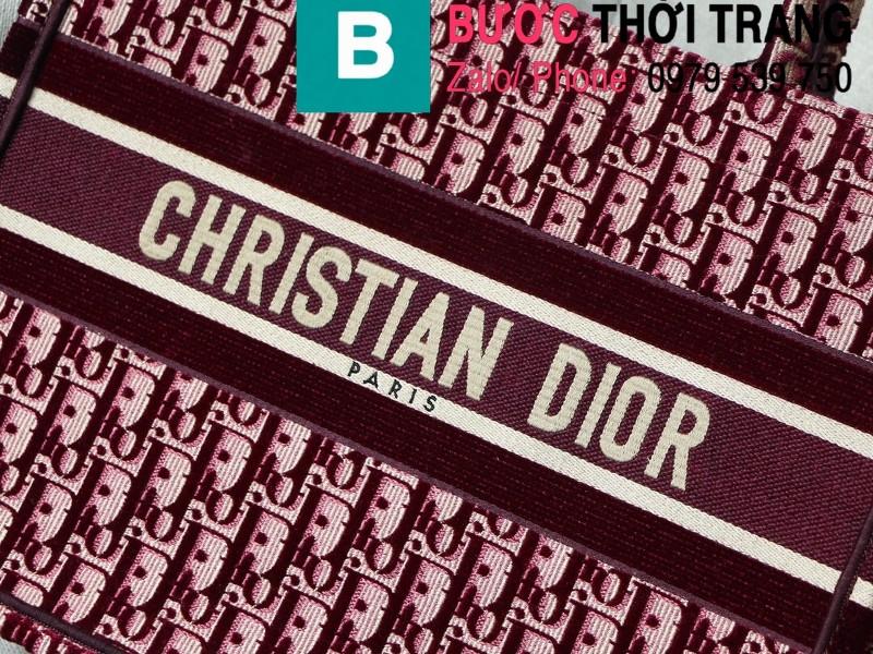 Túi xách Dior Book Tote siêu cấp chất liệu vải casvan màu 4 size 36.5cm - M1286