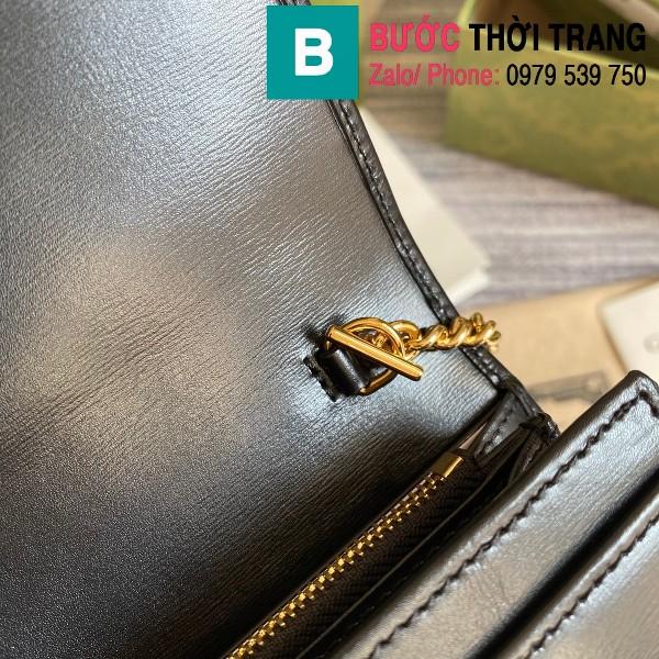 Túi xách Gucci Jacki 1961 siêu cấp da bê màu đen size 19cm - 652681