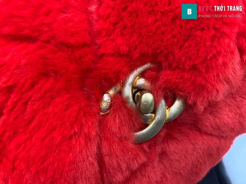 Túi xách Chanel Flap Bag siêu cấp màu đỏ size 21.5 cm - AS2240