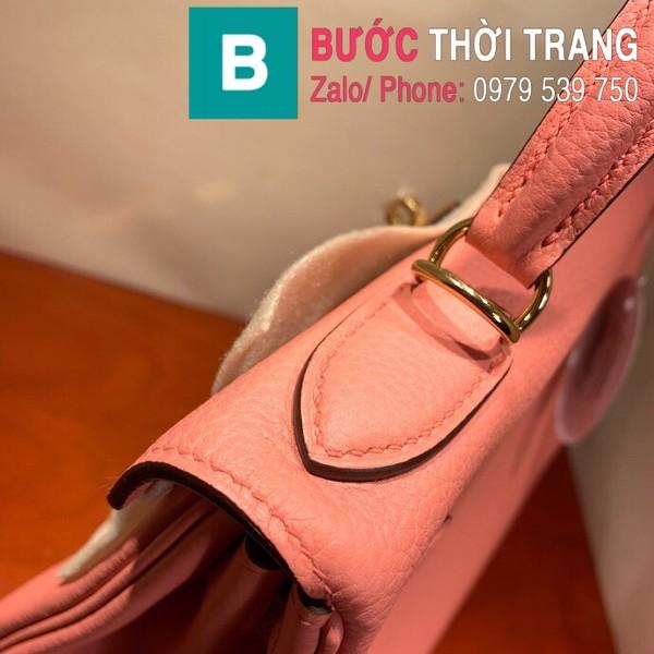 Túi xách Hermes Kelly siêu cấp da togo màu hồng size 28cm