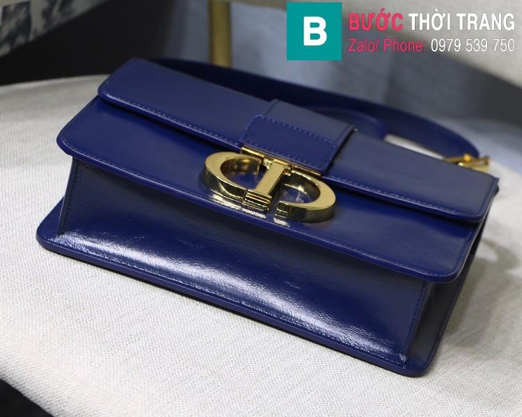 Túi xách Dior 30 Montaigne siêu cấp da bê màu xanh tím than size 24cm