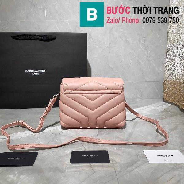 Túi xách YSL Saint Laurent LouLou bag siêu cấp màu hồng size 20cm - 467072