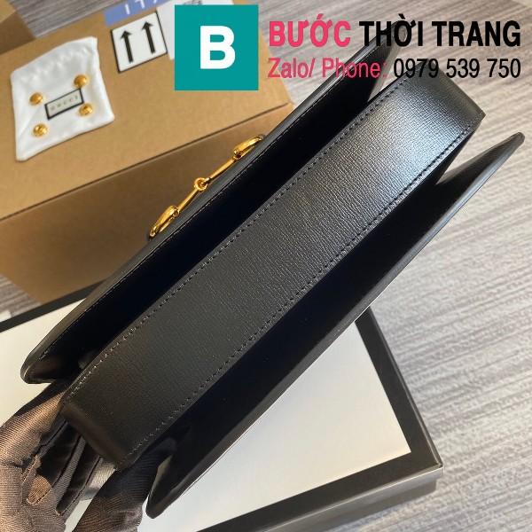 Túi xách Gucci Horsebit 1955 shoulder bag siêu cấp da bê màu đen size 25cm - 602204