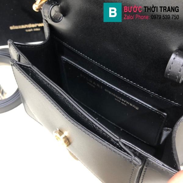 Túi xách Bvlgari Alexander Wang siêu cấp da bê màu đen size 18.5cm