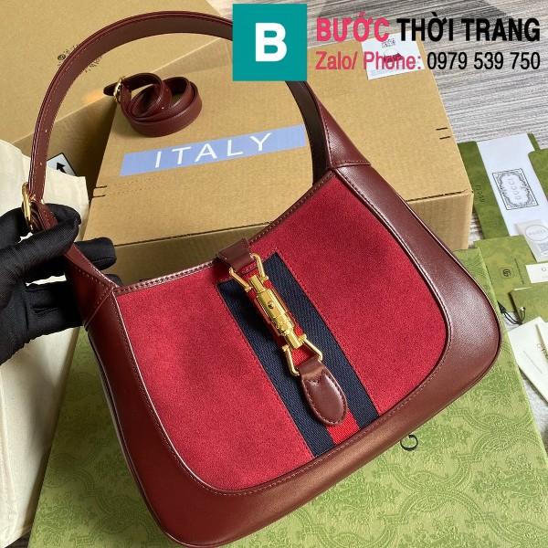 Túi xách Gucci Jackie 1961 small shoulder bag siêu cấp da bê màu đỏ size 28cm - 636709