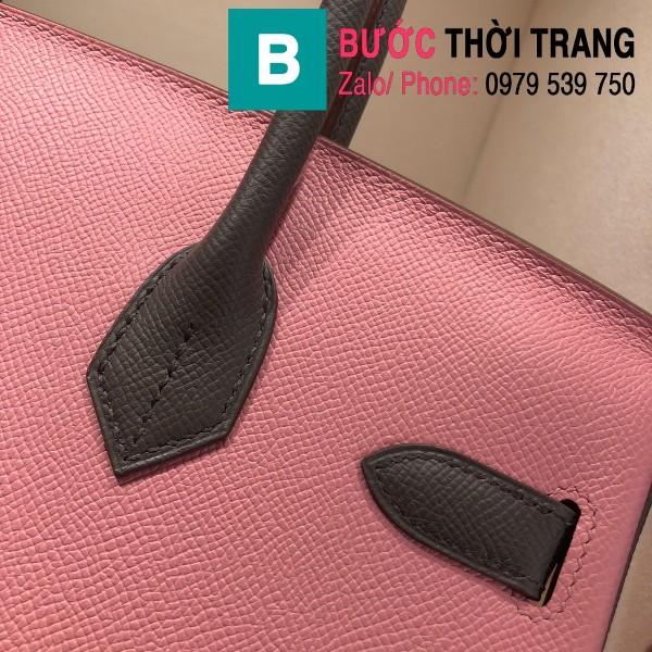 Túi xách Hermes Birkin siêu cấp da epsom màu hồng nhạt size 30cm