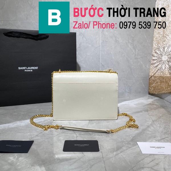 Túi xách YSL Saint Laurernt Sunset siêu cấp da bê màu trắng size 22cm - 442906